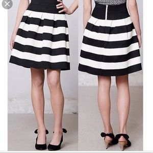NWOT Anthropologie Striped knit skirt